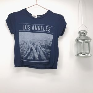 Brandy Melville Los Angeles Graphic Crop Top